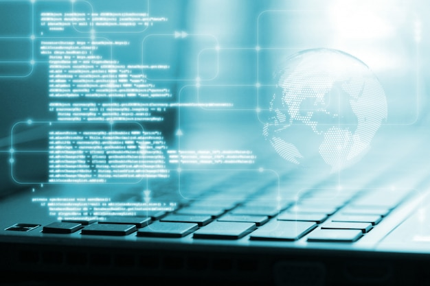 Secuencias de comandos de software de computadora Foto Premium