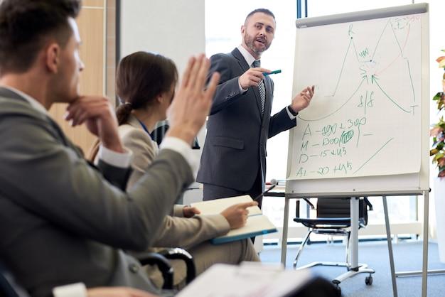 Seminario de capacitación en negocios Foto Premium