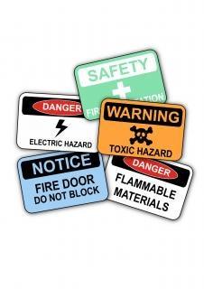 señales de seguridad en el trabajo Foto Gratis