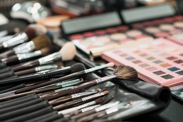 Set de pinceles para maquillaje Foto gratis