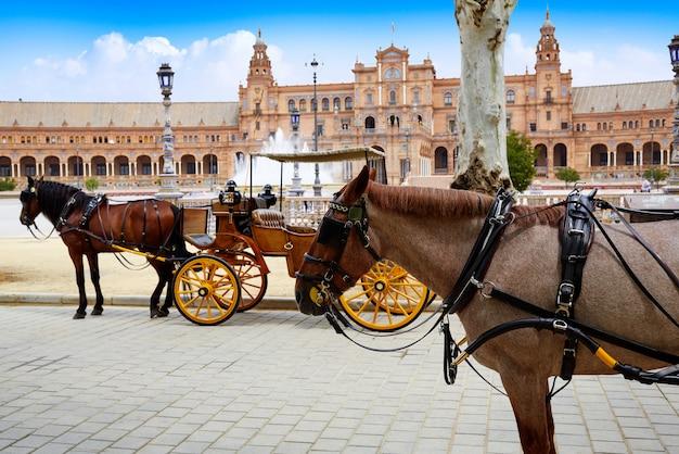 Sevilla plaza de españa andalucía españa Foto Premium
