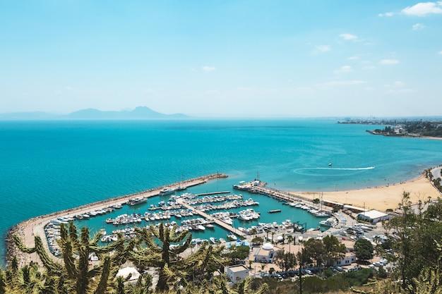 Sidi bou said, túnez Foto Premium