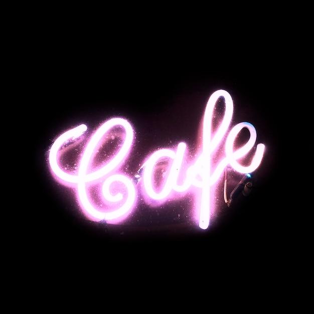 Signo de neón brillante rosa brillante Foto gratis