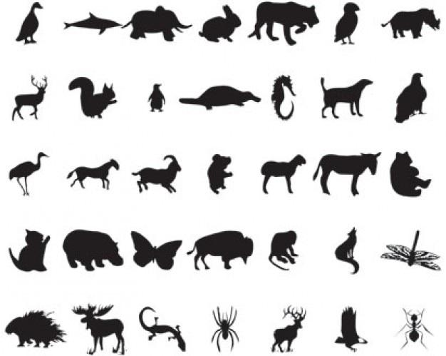 siluetas de los animales | Descargar Vectores gratis