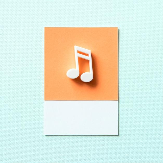 Símbolo de color de la nota musical de audio Foto gratis