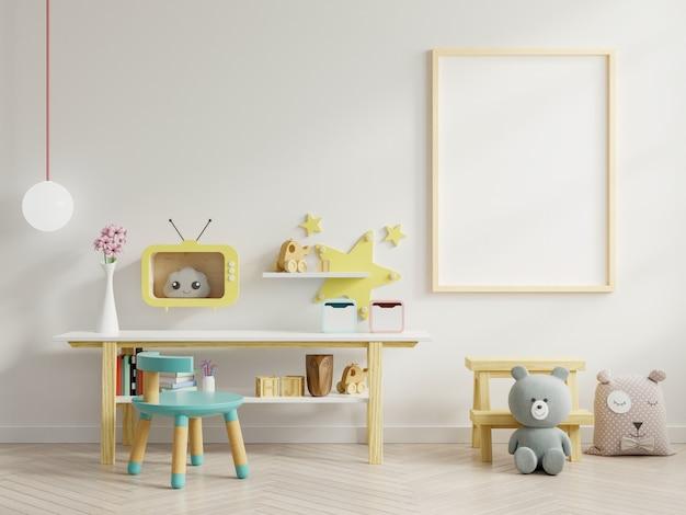 Simulacros de carteles en el interior de la habitación infantil. Foto Premium