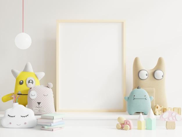 Simulacros de póster en la habitación del niño Foto Premium