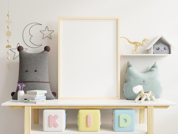 Simulacros de póster en la habitación del niño. Foto Premium