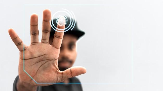 Sistema de escaneo de identificación Foto gratis