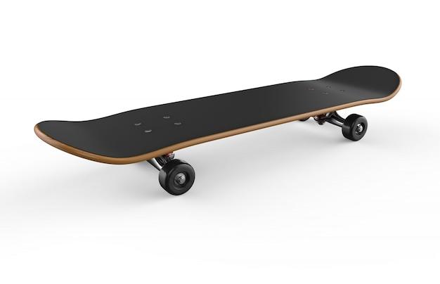 Skateboard sobre un fondo blanco Foto Premium