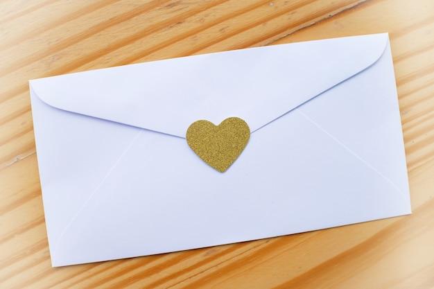 Sobre De La Carta De Amor Del Día De Tarjeta Del Día De San Valentín