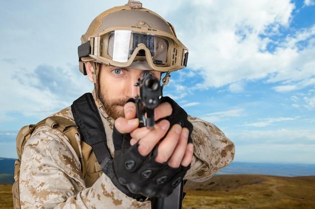 Soldado americano Foto Premium