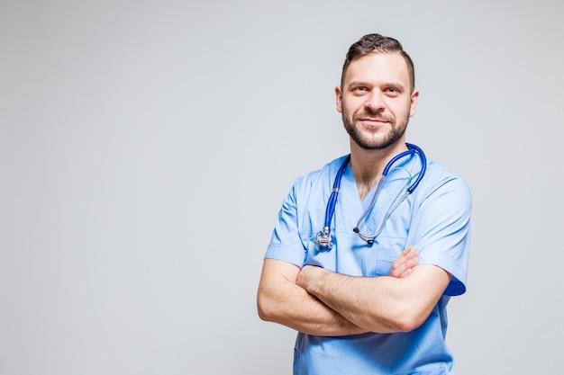 Sonrisa felicidad enfermera médico árabe fuerte Foto gratis
