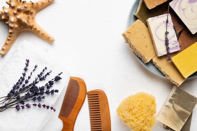 Spa higiene cosmética productos balsámicos Foto gratis