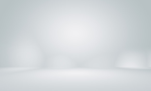 Suave gris vacío studio bien utilizar como fondo. Foto Premium
