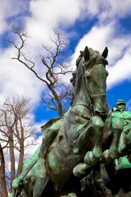 Subvención caballería estatua Foto gratis