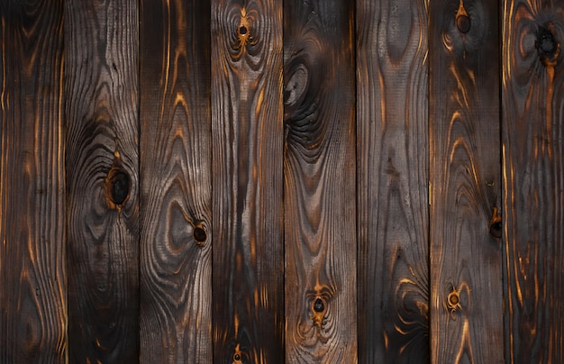 Superficie de madera oscura Foto Premium