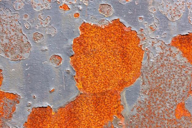 Superficie de metal viejo con fondo de pintura agrietada Foto Premium