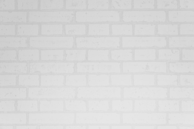 Superficie y textura de la pared de ladrillo blanco Foto gratis