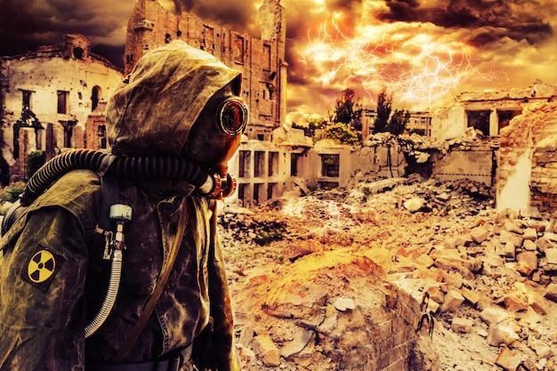 Superviviente del apocalipsis Foto Premium