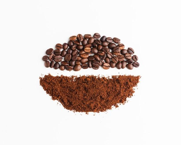 Surtido de café tostado orgánico. Foto Premium