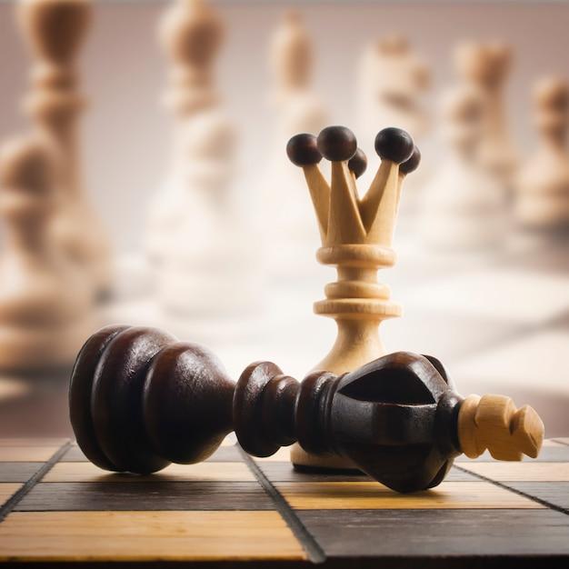 Tablero de ajedrez Foto Premium