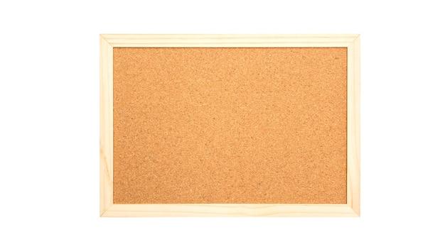 Tablero de corcho sobre un fondo blanco. | Descargar Fotos premium