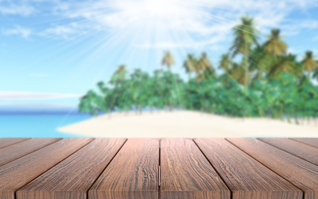 Tablones de madera en un día soleado Foto gratis