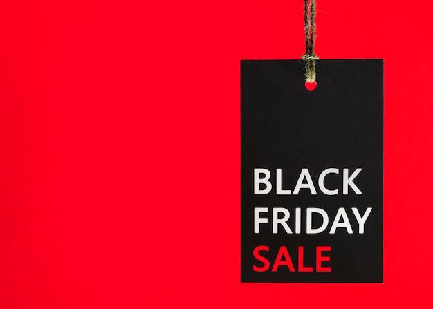 Tally con inscripción viernes negro Foto gratis