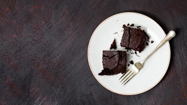 Tarta casera hecha con chocolate Foto gratis
