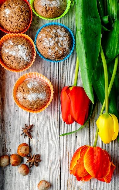 Tarta de chocolate con avellanas Foto Premium