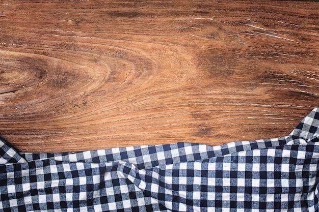Tartán, fondo de madera Foto gratis