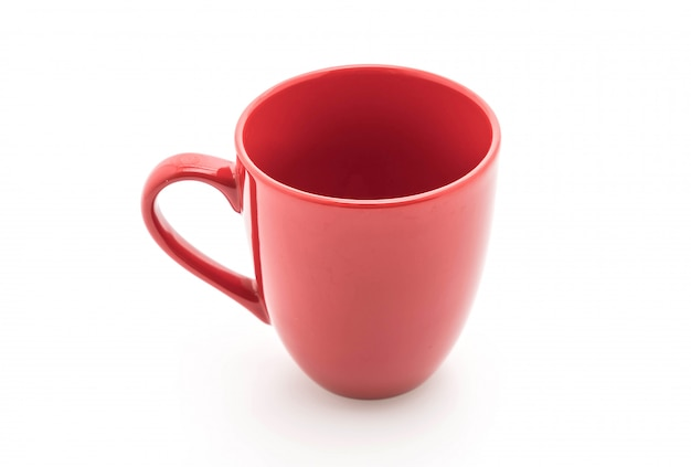 Taza de cerámica roja Foto Premium