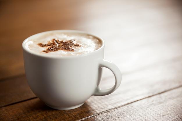 Taza De Caf Con La Estrella Del Arte Del Latte