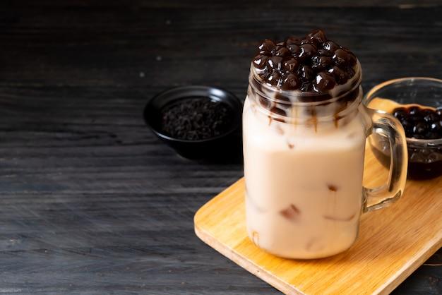 Té de leche de taiwán con burbuja Foto Premium