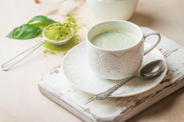 Té verde matcha latte Foto Premium