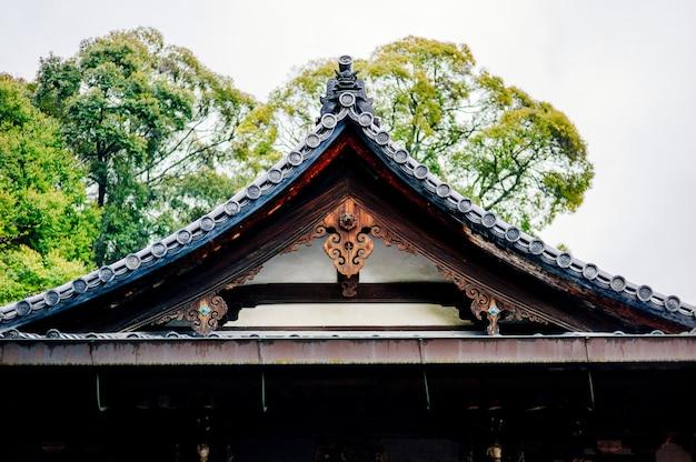Techo del templo tradicional de japón Foto gratis
