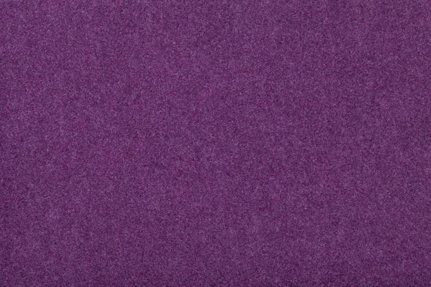 Tejido de gamuza mate morado oscuro terciopelo textura de fieltro, Foto Premium