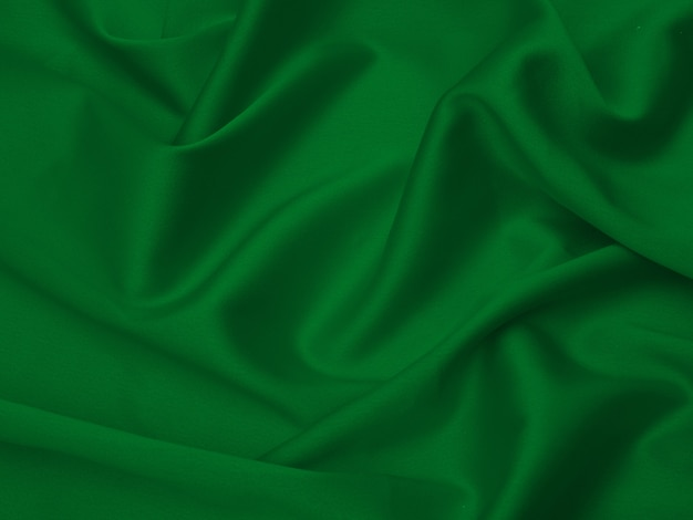 Tela verde para el fondo o la textura. Foto Premium