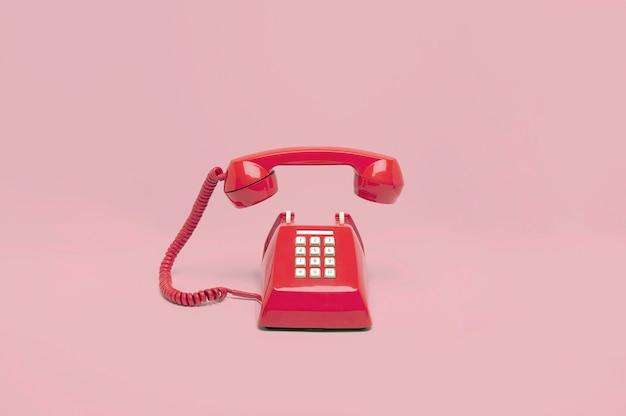 Telefono retro rosa Foto Premium