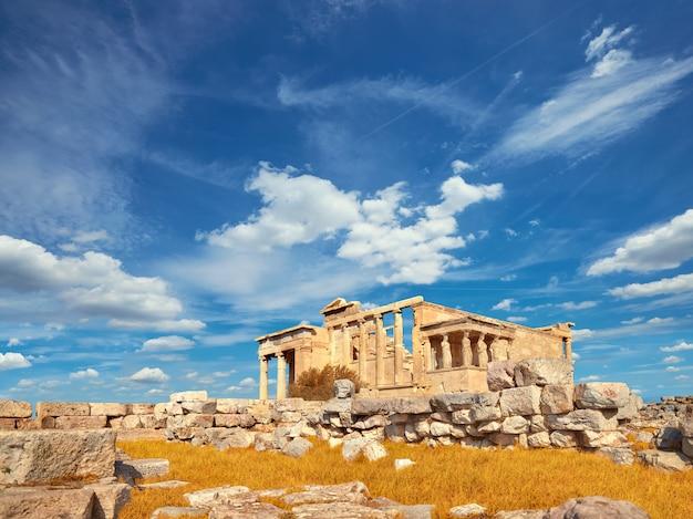 Templo erecteion acrópolis, atenas, grecia Foto Premium