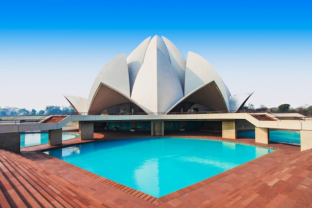 Templo del loto, india Foto Premium