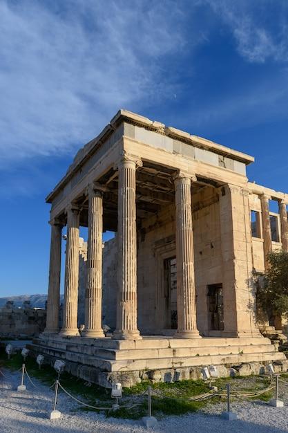 Templo del partenón en la acrópolis de atenas, grecia. Foto Premium
