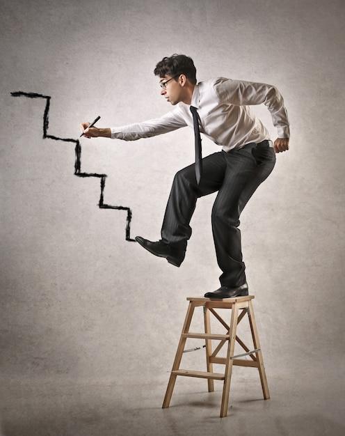 Tener ambición en el trabajo. Foto Premium
