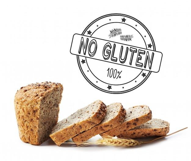 Texto sin gluten en pan. Foto Premium