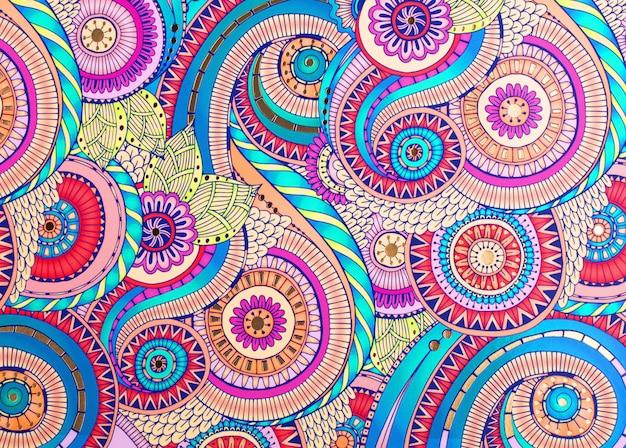 Textura adorno de color sobre papel. fondo Foto Premium
