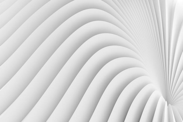 La textura del borde radiante de rayas blancas. ilustración 3d Foto Premium
