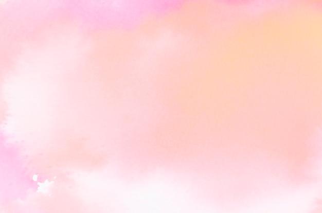 Textura brillante acuarela abstracta coral sobre fondo blanco Foto gratis