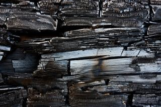 textura de madera quemada quemado Foto Gratis