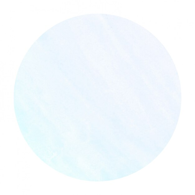 Textura de fondo de marco circular acuarela dibujada mano azul frío con manchas Foto Premium